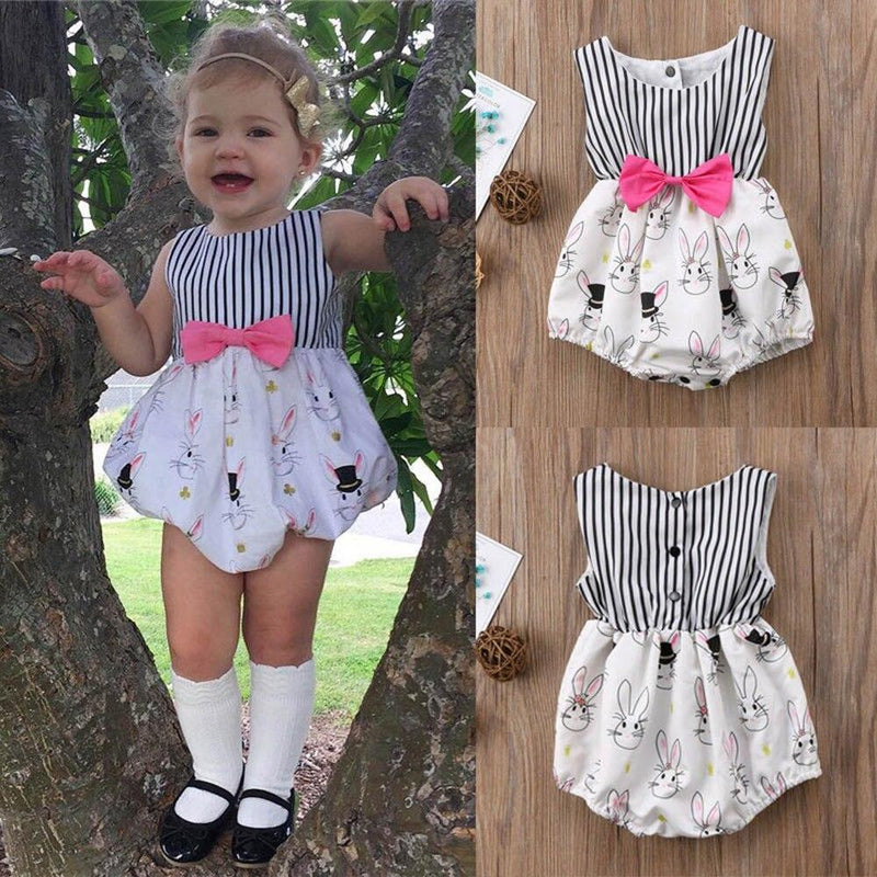 Adorable Bunny Romper With Big Bow - The Palm Beach Baby