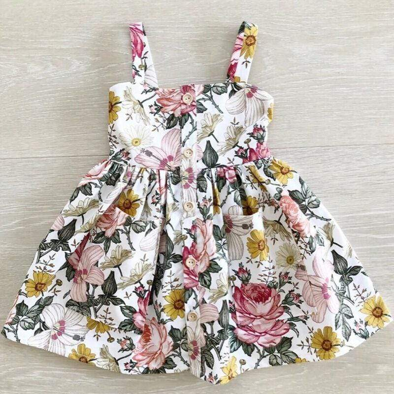"""Aria"" Floral Party Dress - The Palm Beach Baby"