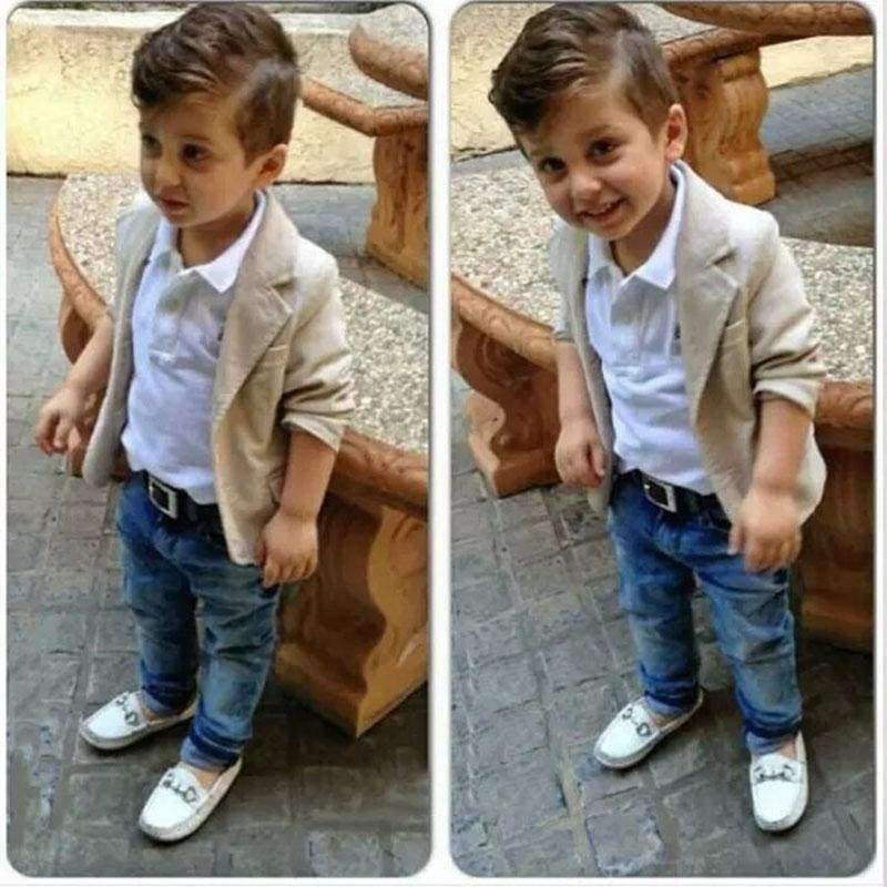 Dapper Boys Casual Blazer, Shirt & Jeans Set - The Palm Beach Baby