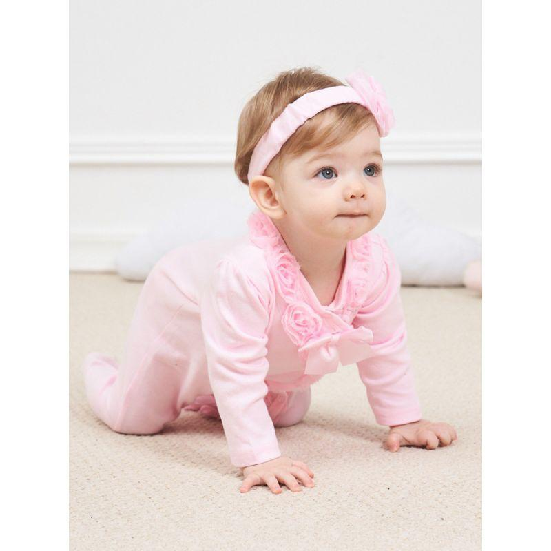 Babies Pink Ruffled Romper Jumpsuit - The Palm Beach Baby