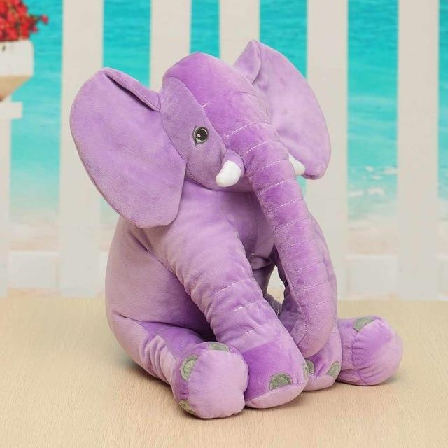 """Elly Elephant"" Plush Stuffed Toy - Purple, Blue, Pink - The Palm Beach Baby"