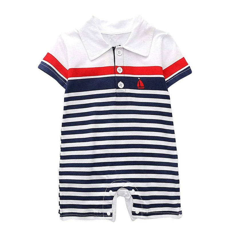 """Spencer"" Polo-Style Romper (3 Colors) - The Palm Beach Baby"