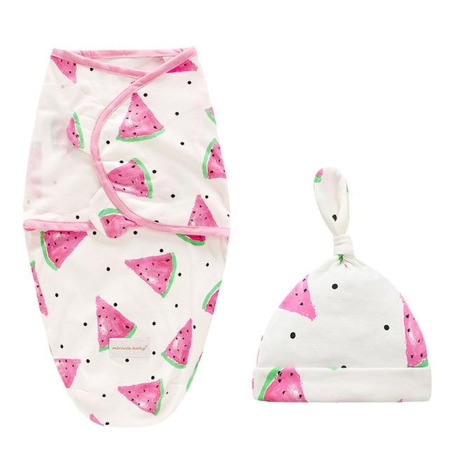 Fun-Print Swaddle Sleepsack With Cap - The Palm Beach Baby