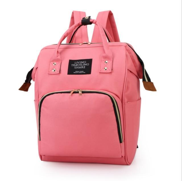 Large Capacity Waterproof Diaper Backpack Bag - The Palm Beach Baby