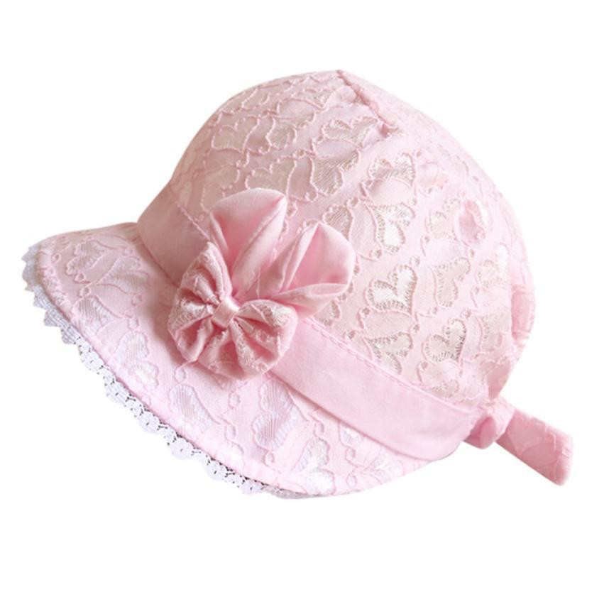 "The ""Amelia"" Lace Baby Bonnet - The Palm Beach Baby"