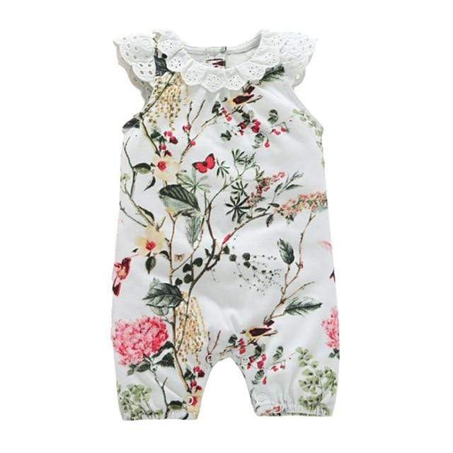 "Baby & Kids Apparel 1 / 24M / United States The ""Everly"" One Piece Romper -The Palm Beach Baby"