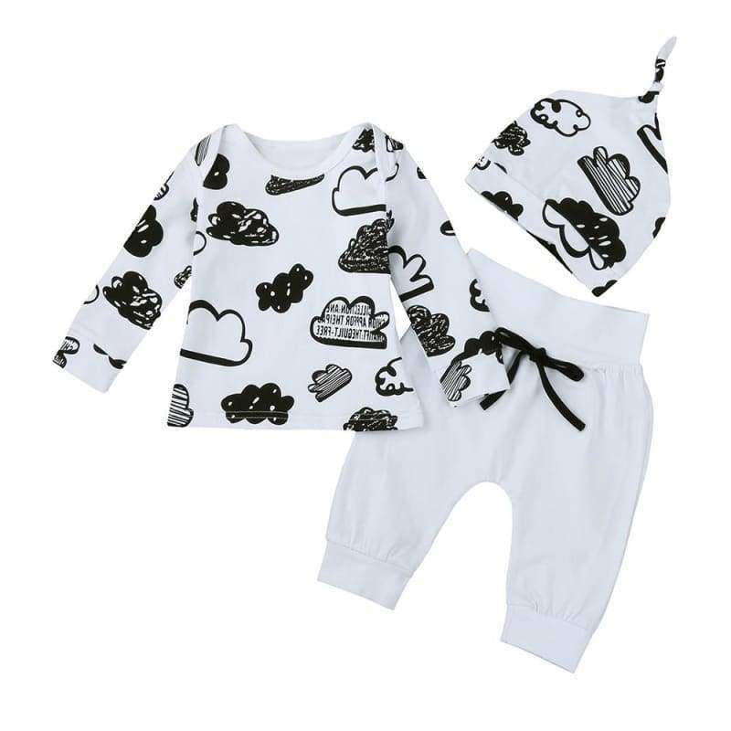 "Baby's ""On Cloud 9"" Pajama Set - the-palm-beach-baby.myshopify.com"