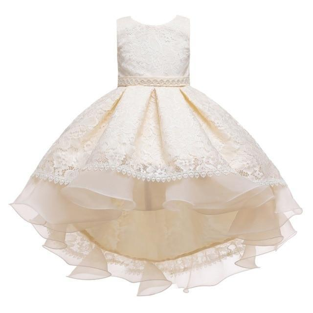 "Baby & Kids Apparel A2 / 130 / United States The ""Martina"" Elegant High-Low Dress -The Palm Beach Baby"