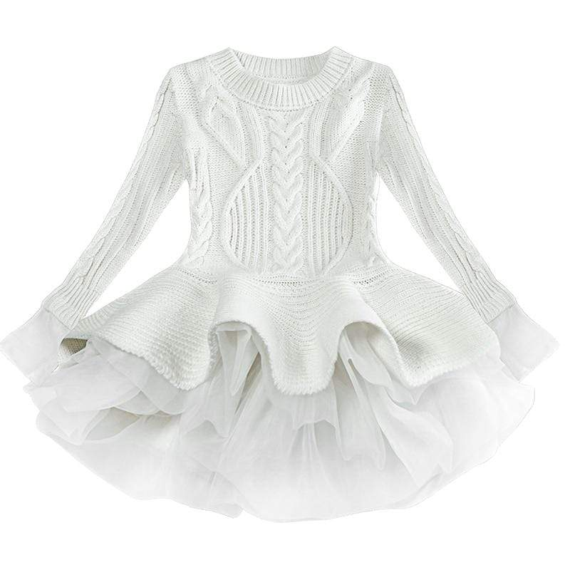 "The ""Daniella"" Winter Knit Tutu Dress - The Palm Beach Baby"