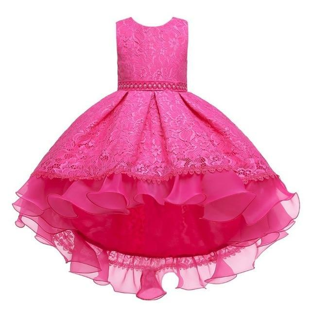 "Baby & Kids Apparel A6 / 130 / United States The ""Martina"" Elegant High-Low Dress -The Palm Beach Baby"