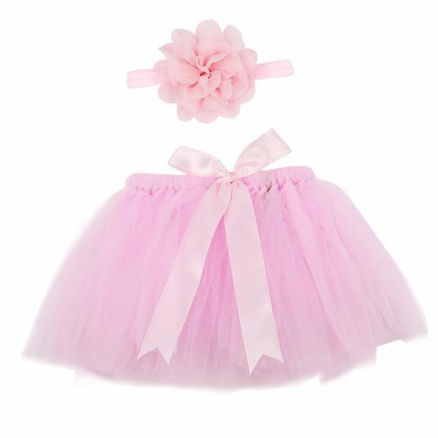 Adorable Infants 2 PC Pink Tutu Set - The Palm Beach Baby