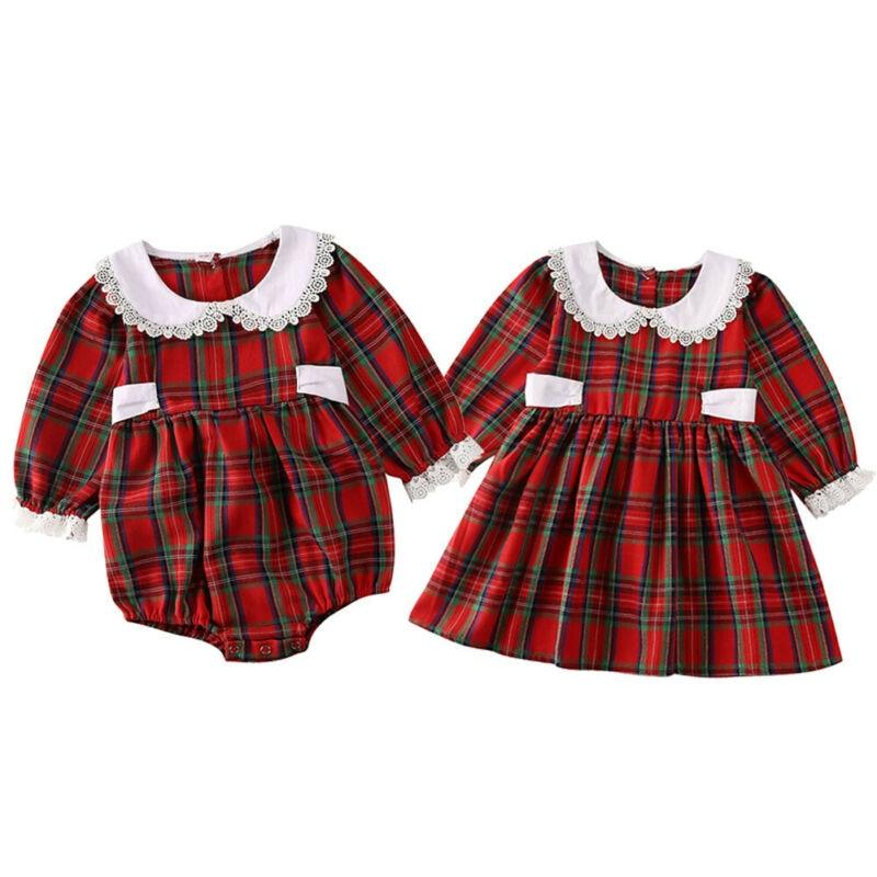 Baby & Kids Apparel Adorable Plaid Matching Dress Or Romper -The Palm Beach Baby