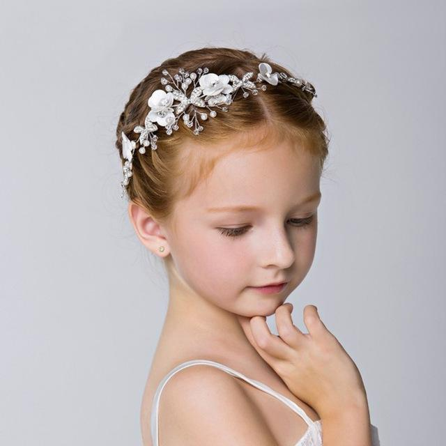 "Baby & Kids Apparel B1-headband-27X5cm / 130 / United States The ""Martina"" Elegant High-Low Dress -The Palm Beach Baby"