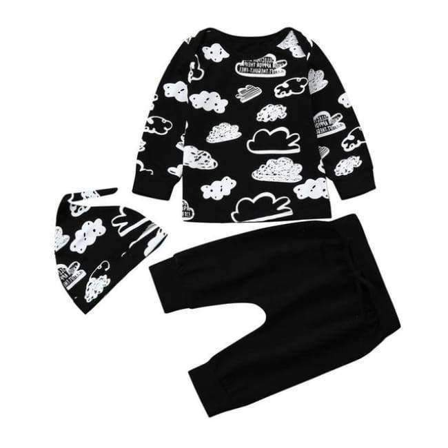 "Baby's ""On Cloud 9"" Pajama Set - The Palm Beach Baby"