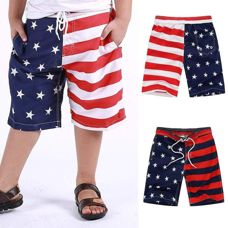 Boy's American Flag Swim Shorts - The Palm Beach Baby