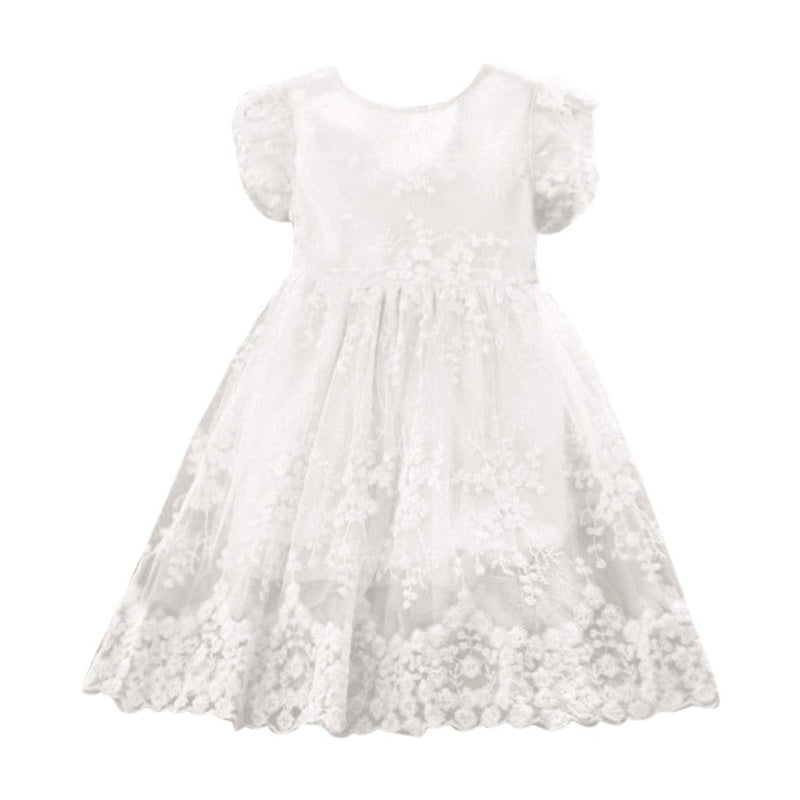 """Carolina-Marie"" White Lace Occasion Dress - The Palm Beach Baby"
