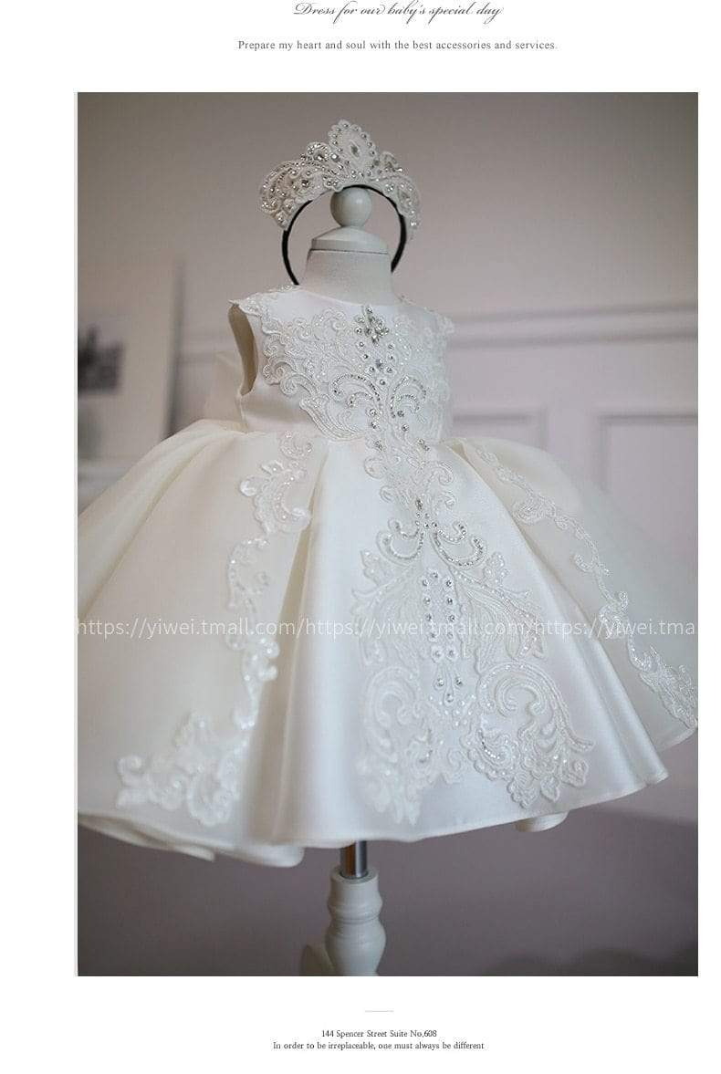 Elegant White Lace Special Occasion Dress - The Palm Beach Baby