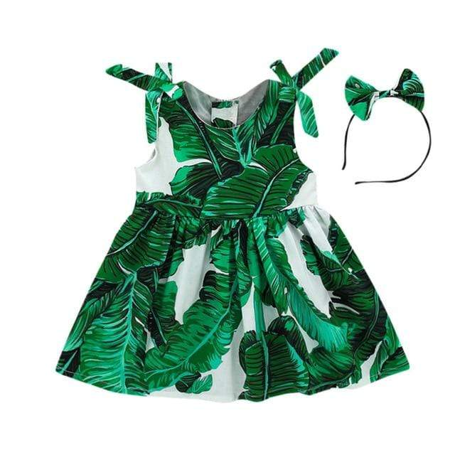 Laylani's Pretty Palm Print Dress - The Palm Beach Baby