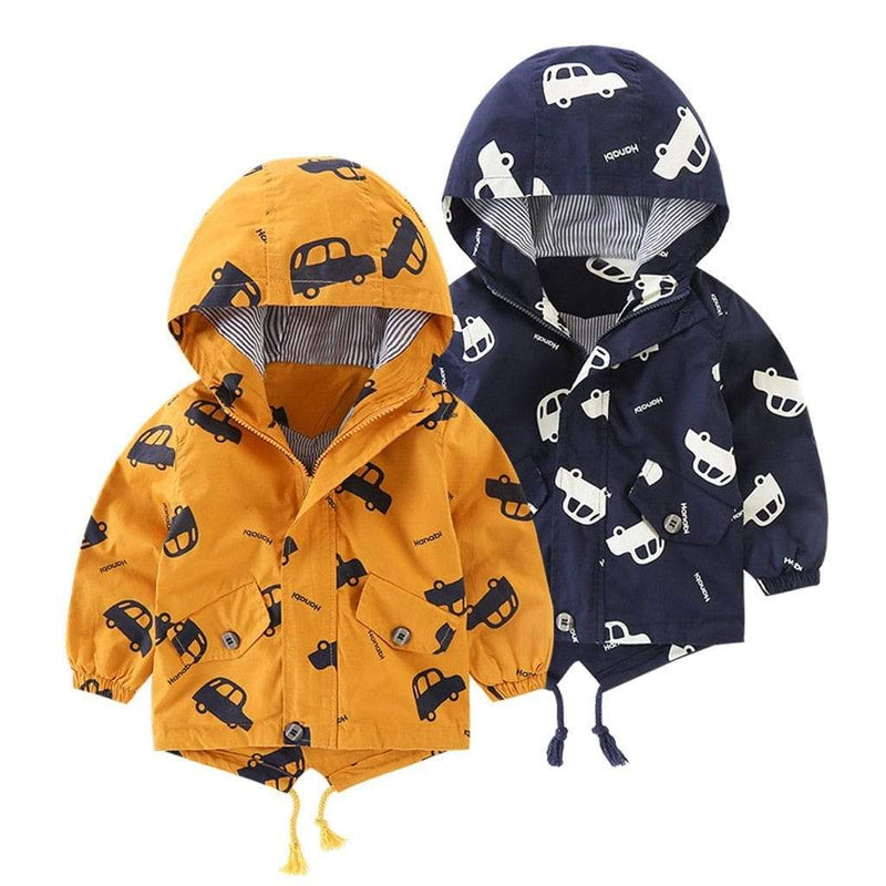 Little Boy's Cute Truck Printed Jacket - The Palm Beach Baby