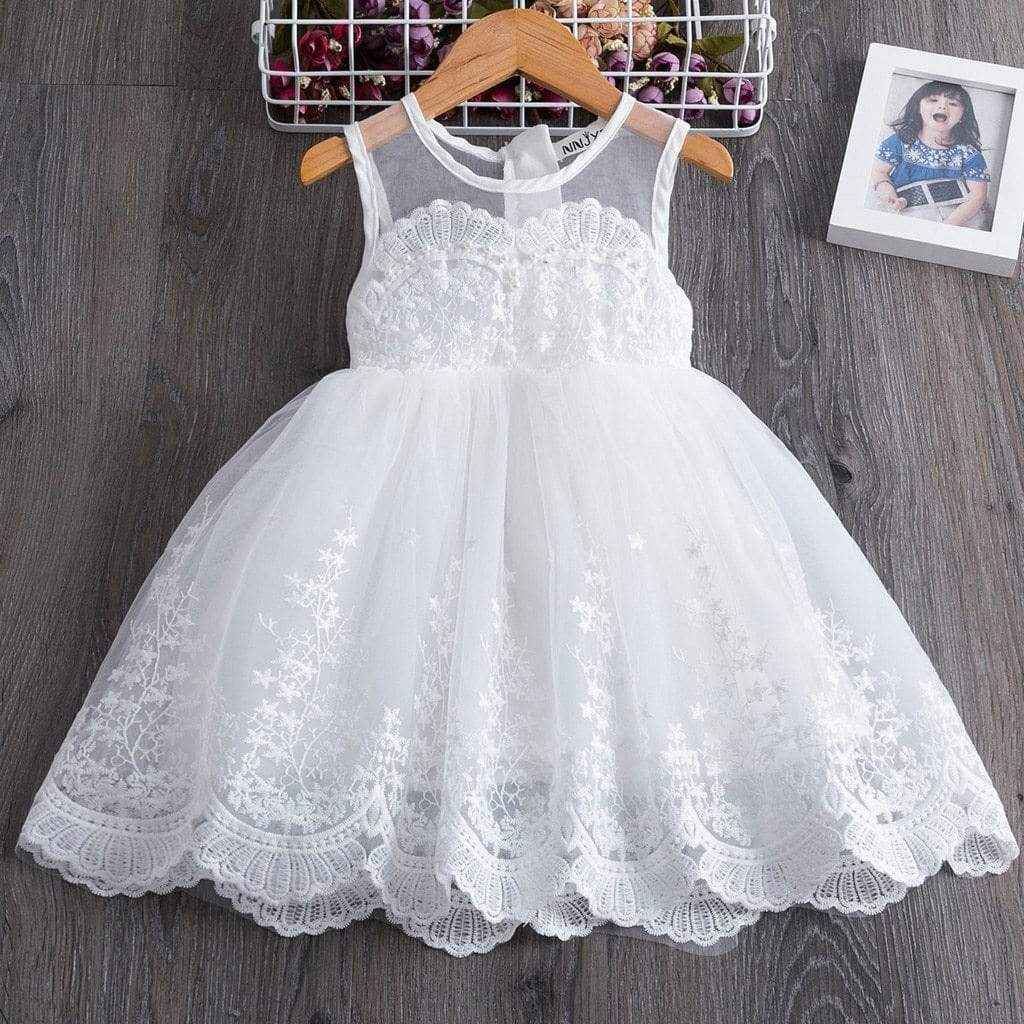 "Baby & Kids Apparel ""Marielle"" Lace Occasion Dress -The Palm Beach Baby"