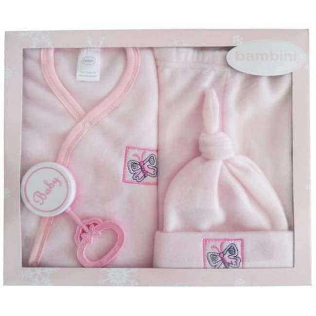 4 Piece Infant Fleece Set - Pink - the-palm-beach-baby.myshopify.com