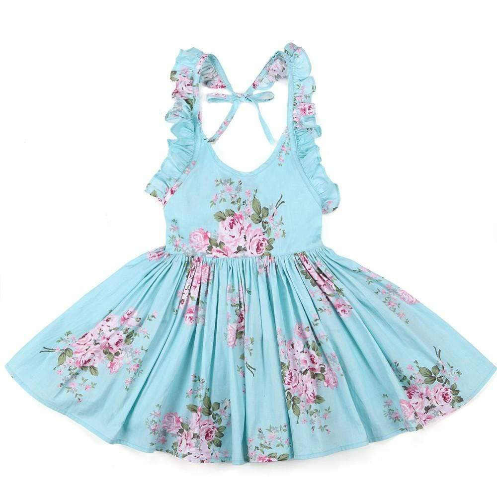 """Oh Suzannah"" Flirty Floral Party Dress - The Palm Beach Baby"