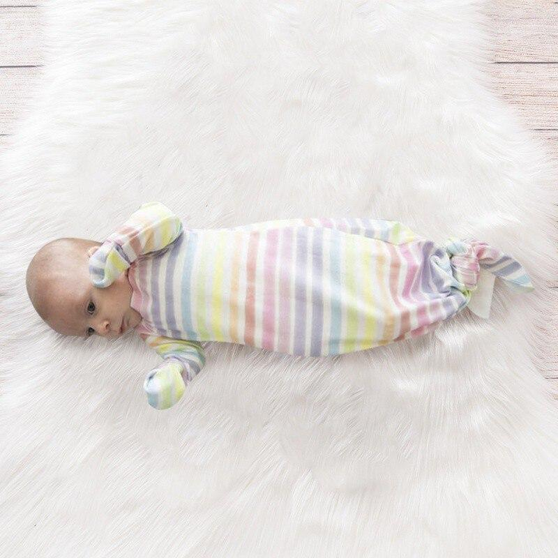 """My Sweet Little Rainbow"" Sleeping Gown & Cap Set - The Palm Beach Baby"