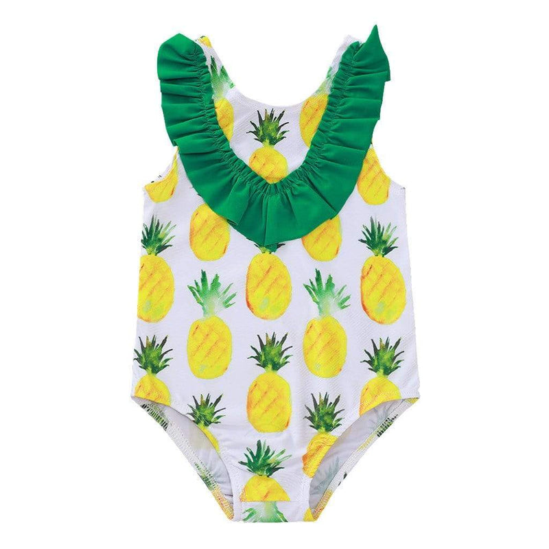 "Baby & Kids Apparel ""Pineapple Baby"" One Piece Swimsuit -The Palm Beach Baby"