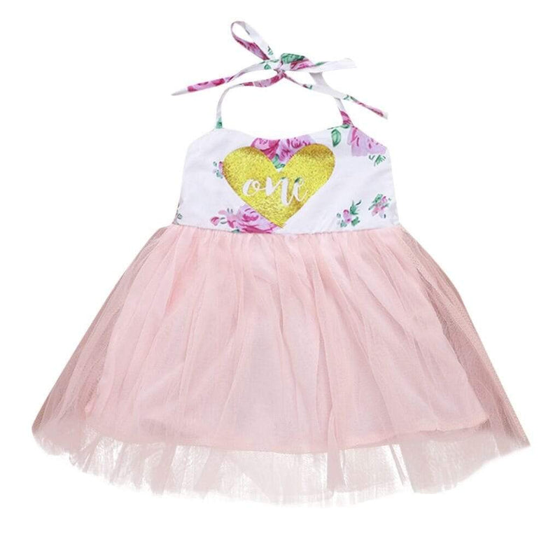 "Baby & Kids Apparel Pink / 18M / United States ""Sweetheart Baby's"" First Birthday Tutu Dress -The Palm Beach Baby"