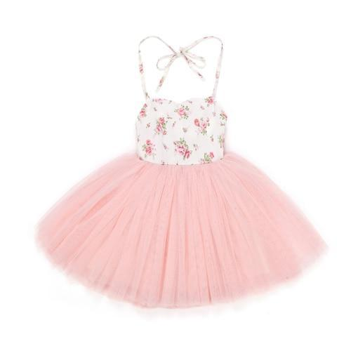 "Baby & Kids Apparel pink / 2T / China The ""Camille"" 4 Layer Vintage Tulle Dress -The Palm Beach Baby"