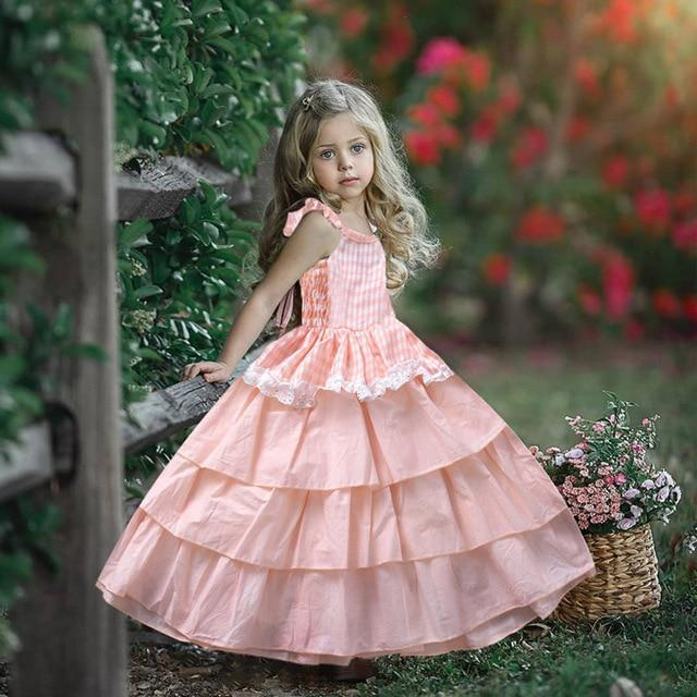 """Adalynn"" Pink Tiered Party Dress - The Palm Beach Baby"