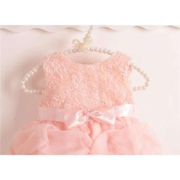 2 PC Lovely Floral Lace Baptism Dress Set - The Palm Beach Baby