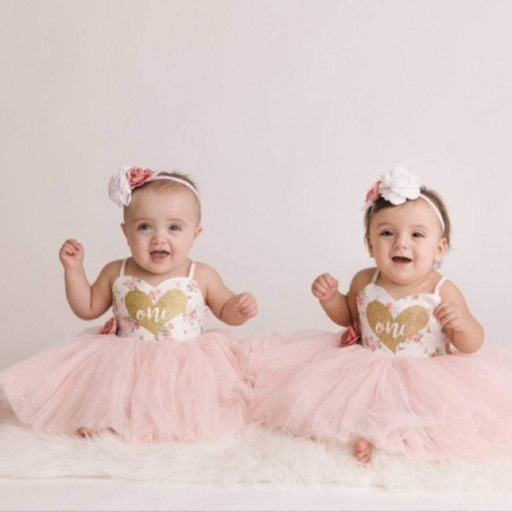 "Baby & Kids Apparel Pink / 6M / United States ""Sweetheart Baby's"" First Birthday Tutu Dress -The Palm Beach Baby"