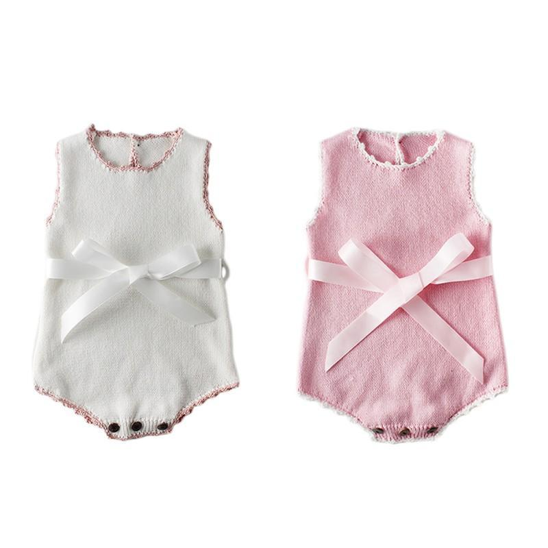 """Pretty in Knit"" Baby Romper - The Palm Beach Baby"