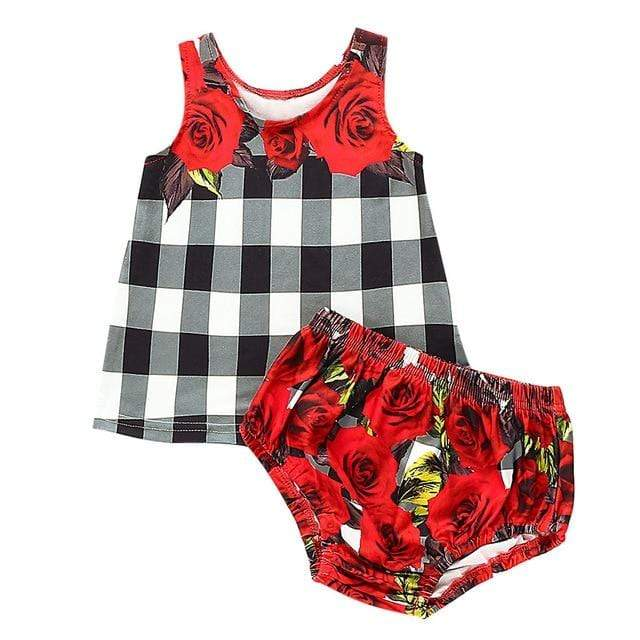 """It's A Rosey Day"" 2 PC Bloomer Set - The Palm Beach Baby"
