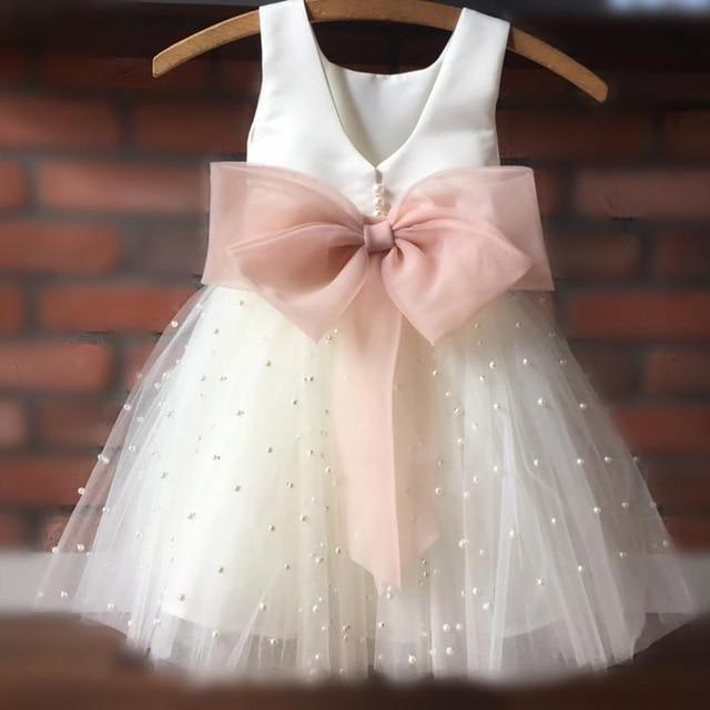 Baby & Kids Apparel Same As Picture / Child-2 Elegant V-Back Occasion Dress With Big Bow -The Palm Beach Baby