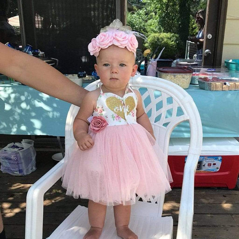 "Baby & Kids Apparel ""Sweetheart Baby's"" First Birthday Tutu Dress -The Palm Beach Baby"
