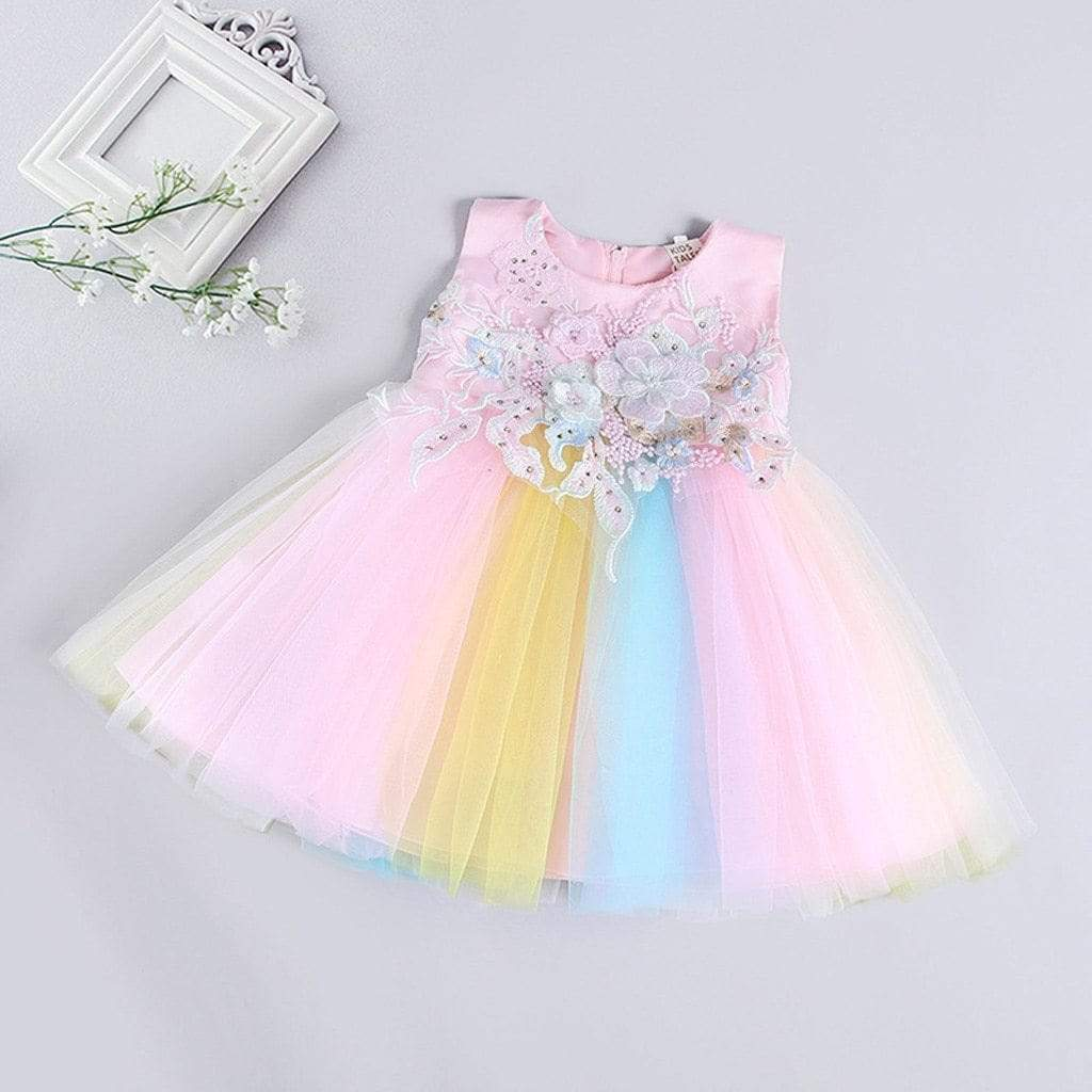 "The ""Miley"" Rainbow Party Dress - The Palm Beach Baby"