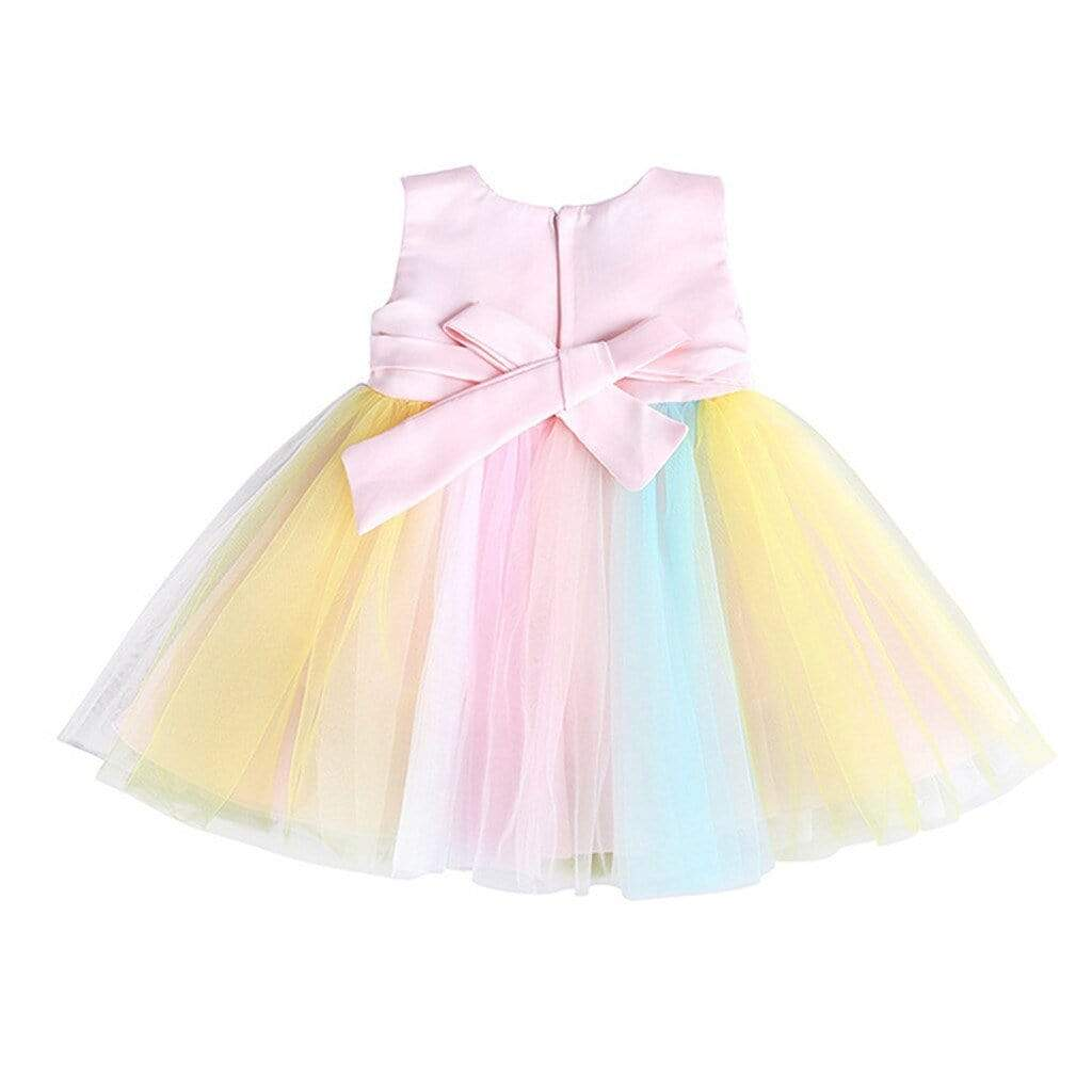 "Baby & Kids Apparel The ""Miley"" Rainbow Party Dress -The Palm Beach Baby"