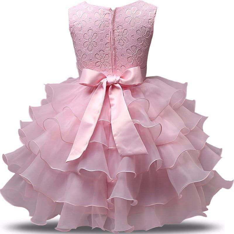 "The ""Patrice"" Pink Tiered Special Occasion Dress - The Palm Beach Baby"
