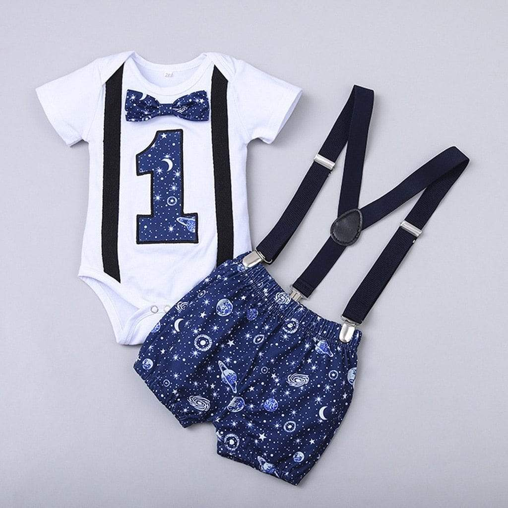 Birthday Boys Gentleman Clothing Set  - Blue - The Palm Beach Baby