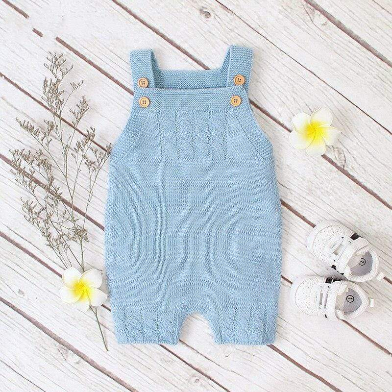 """Farrell"" Knit Jumpsuit Overalls - The Palm Beach Baby"