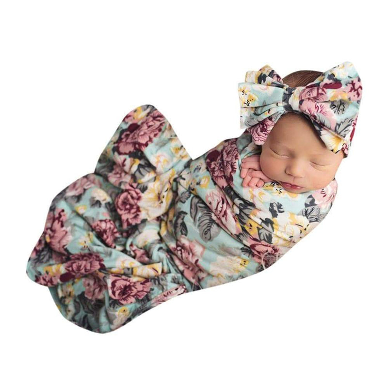 Newborn Infant Baby Swaddle Blanket Sleeping Swaddle Muslin Wrap 2020 summer new arrival - The Palm Beach Baby