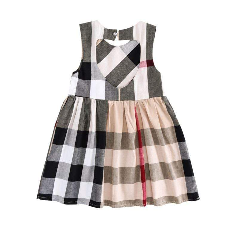 """Brittany"" Plaid Sleeveless Dress - The Palm Beach Baby"