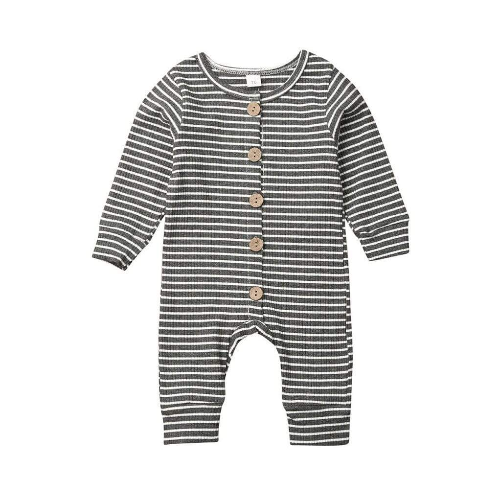 Baby's Striped Knit Romper Jumpsuit - The Palm Beach Baby