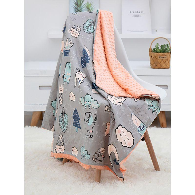 Cartoon Print Baby Blanket - The Palm Beach Baby