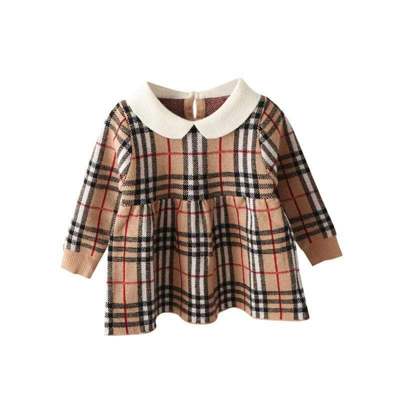 """Chandler"" Plaid Peter Pan Collar Dress - The Palm Beach Baby"