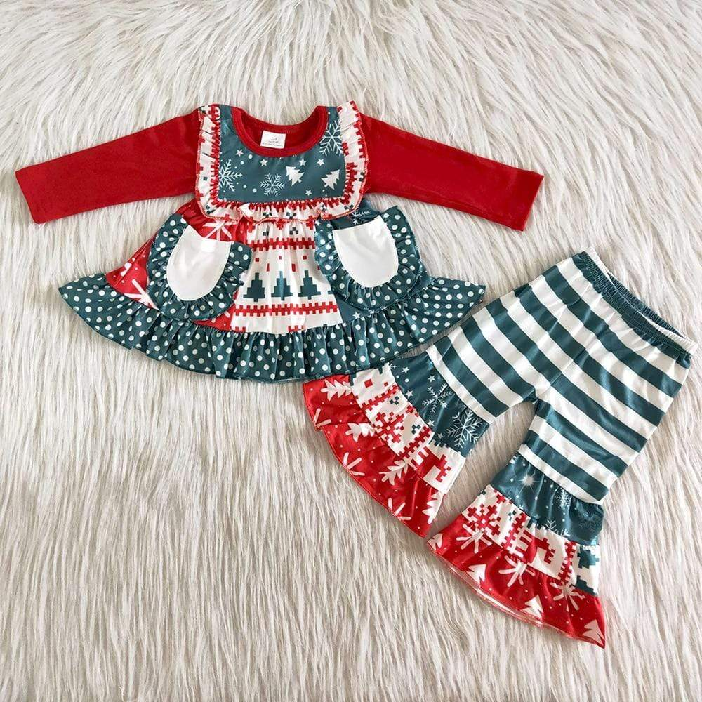 """Christmas Cutie' 2 PC Tunic + Pants Set - The Palm Beach Baby"