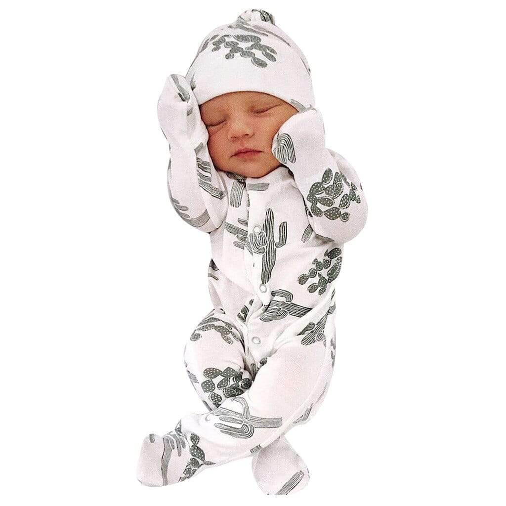 "Cute Infant ""Cactus"" Print Sleepwear Set - The Palm Beach Baby"