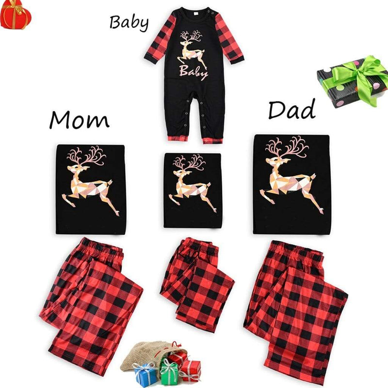 Family Of Matching Holiday Pajamas - The Palm Beach Baby